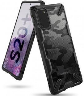 """Juodas (Camo) dėklas Samsung Galaxy S20 Plus telefonui """"Ringke Fusion X"""""""