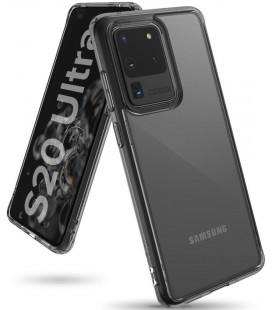 """Juodas dėklas Samsung Galaxy S20 Ultra telefonui """"Ringke Fusion"""""""