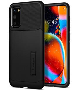 """Juodas dėklas Samsung Galaxy S20 telefonui """"Spigen Slim Armor"""""""