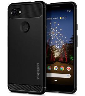 """Juodas dėklas Google Pixel 3A XL telefonui """"Spigen Rugged Armor"""""""