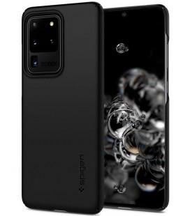 "Juodas dėklas Samsung Galaxy S20 Ultra telefonui ""Spigen Thin Fit"""