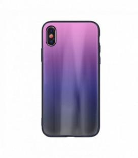 Dėklas Aurora Samsung A515 A51 rožinis-juodas