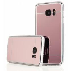 """Rausvai auksinės spalvos silikoninis dėklas Samsung Galaxy S7 Edge G935 telefonui """"Mirror"""""""