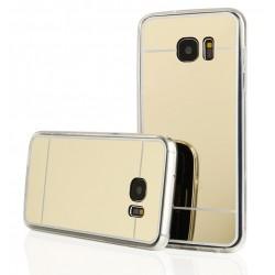 """Auksinės spalvos silikoninis dėklas Samsung Galaxy S7 Edge G935 telefonui """"Mirror"""""""