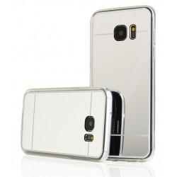 """Sidabrinės spalvos silikoninis dėklas Samsung Galaxy S7 Edge G935 telefonui """"Mirror"""""""