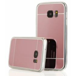 """Rausvai auksinės spalvos silikoninis dėklas Samsung Galaxy S7 G930 telefonui """"Mirror"""""""