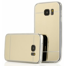 """Auksinės spalvos silikoninis dėklas Samsung Galaxy S7 G930 telefonui """"Mirror"""""""