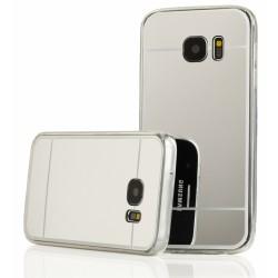 """Sidabrinės spalvos silikoninis dėklas Samsung Galaxy S7 G930 telefonui """"Mirror"""""""