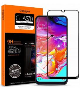 """Apsauginis grūdintas stiklas Samsung Galaxy A70 telefonui """"Spigen Glas.TR Slim"""""""