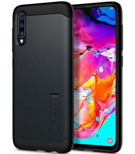 "Pilkas dėklas Samsung Galaxy A70 telefonui ""Spigen Slim Armor"""