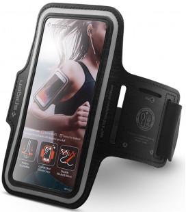"Juodas universalus dėklas ant rankos telefonams iki 6,9"" ""Spigen A700"""