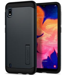 "Pilkas dėklas Samsung Galaxy A10 telefonui ""Spigen Slim Armor"""