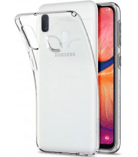 "Skaidrus dėklas Samsung Galaxy A20E telefonui ""Spigen Liquid Crystal"""