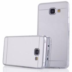 """Sidabrinės spalvos silikoninis dėklas Samsung Galaxy A5 2016 telefonui """"Mirror"""""""