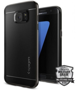 "Pilkas dėklas Samsung Galaxy S7 Edge telefonui ""Spigen Neo Hybrid"""
