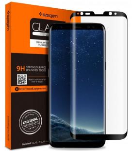 "Apsauginis grūdintas stiklas Samsung Galaxy S8 telefonui ""Spigen Glas.TR Slim"""