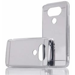 """Sidabrinės spalvos silikoninis dėklas LG G5 H850 telefonui """"Mirror"""""""