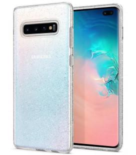 "Skaidrus dėklas su blizgučiais Samsung Galaxy S10 Plus telefonui ""Spigen Liquid Crystal Glitter"""