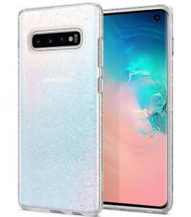 "Skaidrus dėklas su blizgučiais Samsung Galaxy S10 telefonui ""Spigen Liquid Crystal Glitter"""