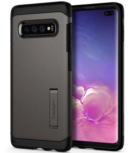 """Pilkas dėklas Samsung Galaxy S10 Plus telefonui """"Spigen Tough Armor"""""""