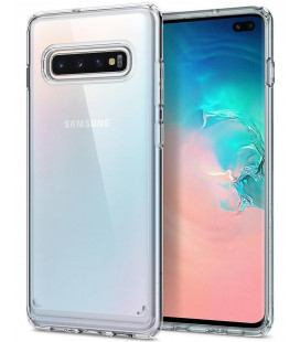"Skaidrus dėklas Samsung Galaxy S10 Plus telefonui ""Spigen Ultra Hybrid"""