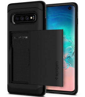 "Juodas dėklas Samsung Galaxy S10 telefonui ""Spigen Slim Armor CS"""