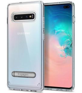 "Skaidrus dėklas Samsung Galaxy S10 Plus telefonui ""Spigen Ultra Hybrid S"""