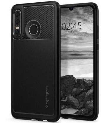 """Juodas dėklas Huawei P30 Lite telefonui """"Spigen Rugged Armor"""""""