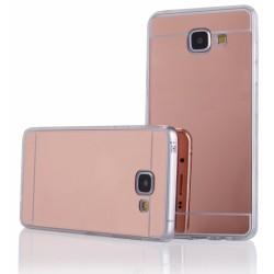 """Rausvai auksinės spalvos silikoninis dėklas Samsung Galaxy A3 2016 A310 telefonui """"Mirror"""""""