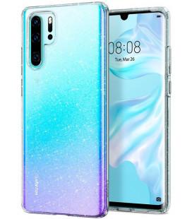 "Skaidrus dėklas su blizgučiais Huawei P30 Pro telefonui ""Spigen Liquid Crystal Glitter"""