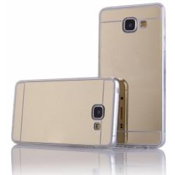 """Auksinės spalvos silikoninis dėklas Samsung Galaxy A3 2016 A310 telefonui """"Mirror"""""""