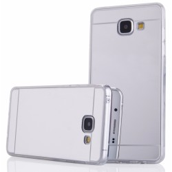 """Sidabrinės spalvos silikoninis dėklas Samsung Galaxy A3 2016 A310 telefonui """"Mirror"""""""
