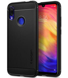 "Juodas dėklas Xiaomi Redmi Note 7 telefonui ""Spigen Rugged Armor"""