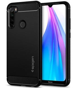 "Juodas dėklas Xiaomi Redmi Note 8T telefonui ""Spigen Rugged Armor"""