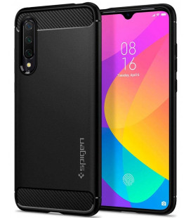 "Juodas dėklas Xiaomi Mi 9 Lite telefonui ""Spigen Rugged Armor"""
