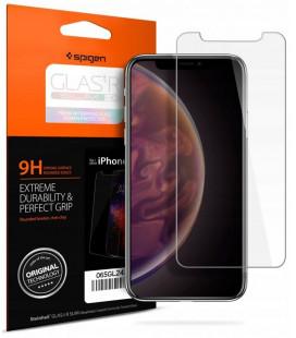 "Apsauginis grūdintas stiklas Apple iPhone X / XS / 11 Pro telefonui ""Spigen Glas.TR Slim HD"""