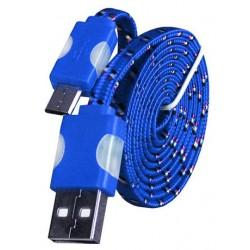 Micro USB laidas su LED pašvietimu - Mėlynas