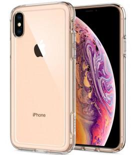 """Skaidrus dėklas Apple iPhone XS Max telefonui """"Spigen Crystal Hybrid"""""""