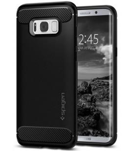 """Juodas dėklas Samsung Galaxy S8 Plus telefonui """"Spigen Rugged Armor"""""""
