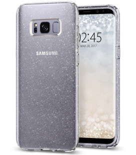 "Skaidrus dėklas su blizgučiais Samsung Galaxy S8 telefonui ""Spigen Liquid Crystal Glitter"""