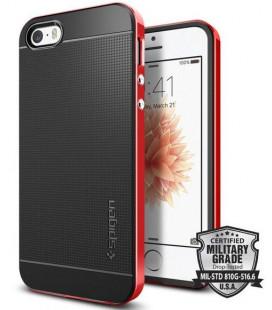 """Raudonas/Juodas dėklas Apple iPhone 5S / SE telefonui """"Spigen Neo Hybrid"""""""