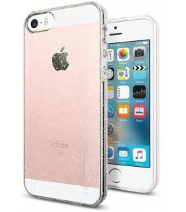 "Skaidrus dėklas su blizgučiais Apple iPhone 5S / SE telefonui ""Spigen Liquid Air Glitter"""