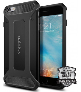 "Juodas dėklas Apple iPhone 6 Plus / 6s Plus telefonui ""Spigen Rugged Armor"""