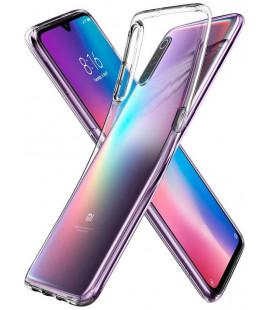 "Skaidrus dėklas Xiaomi Mi 9 telefonui ""Spigen Liquid Crystal Fit"""
