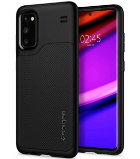 "Juodas dėklas Samsung Galaxy S20 telefonui ""Spigen Hybrid NX"""