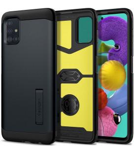 "Pilkas dėklas Samsung Galaxy A51 telefonui ""Spigen Tough Armor"""