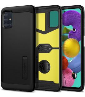 "Juodas dėklas Samsung Galaxy A51 telefonui ""Spigen Tough Armor"""