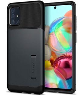 "Pilkas dėklas Samsung Galaxy A71 telefonui ""Spigen Slim Armor"""