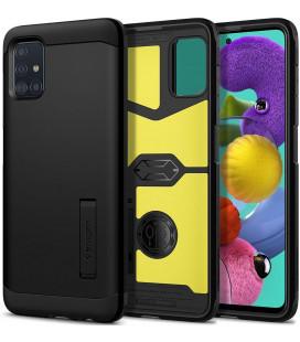 "Juodas dėklas Samsung Galaxy A71 telefonui ""Spigen Tough Armor"""