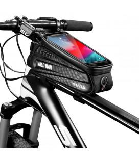 """Juodas universalus telefonų dėklas dviračiams """"L"""" """"Wildman Hardpounch"""""""